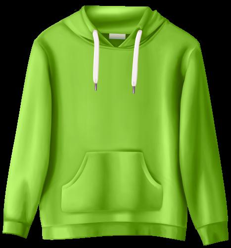 Sweatshirt clipart. Green png clip art