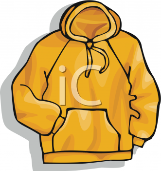 Red hooded . Sweatshirt clipart