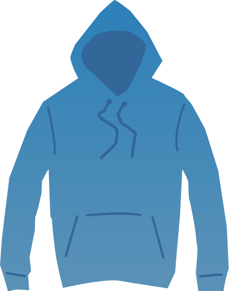 Hooded . Sweatshirt clipart