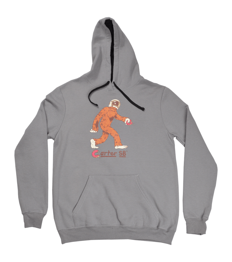 Space squatch men s. Sweatshirt clipart grey hoodie