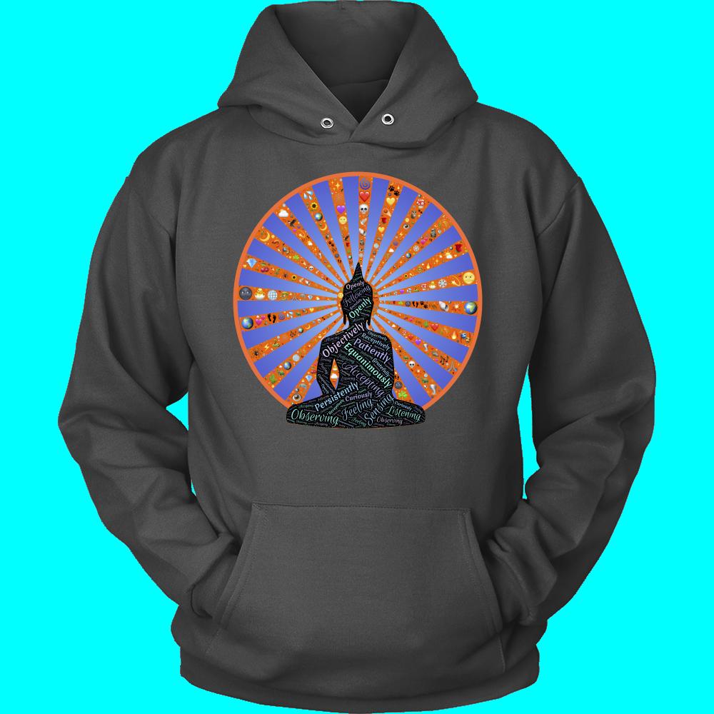Sweatshirt clipart grey hoodie. The inspiration of buddha