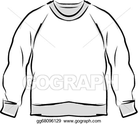 Eps illustration abstract for. Sweatshirt clipart sketch