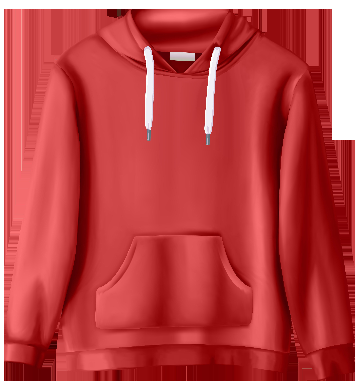 Red png clip art. Sweatshirt clipart
