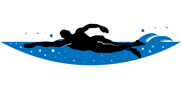 Free . Swimmer clipart