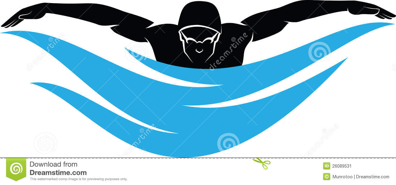 Swimmer clipart. Butterfly