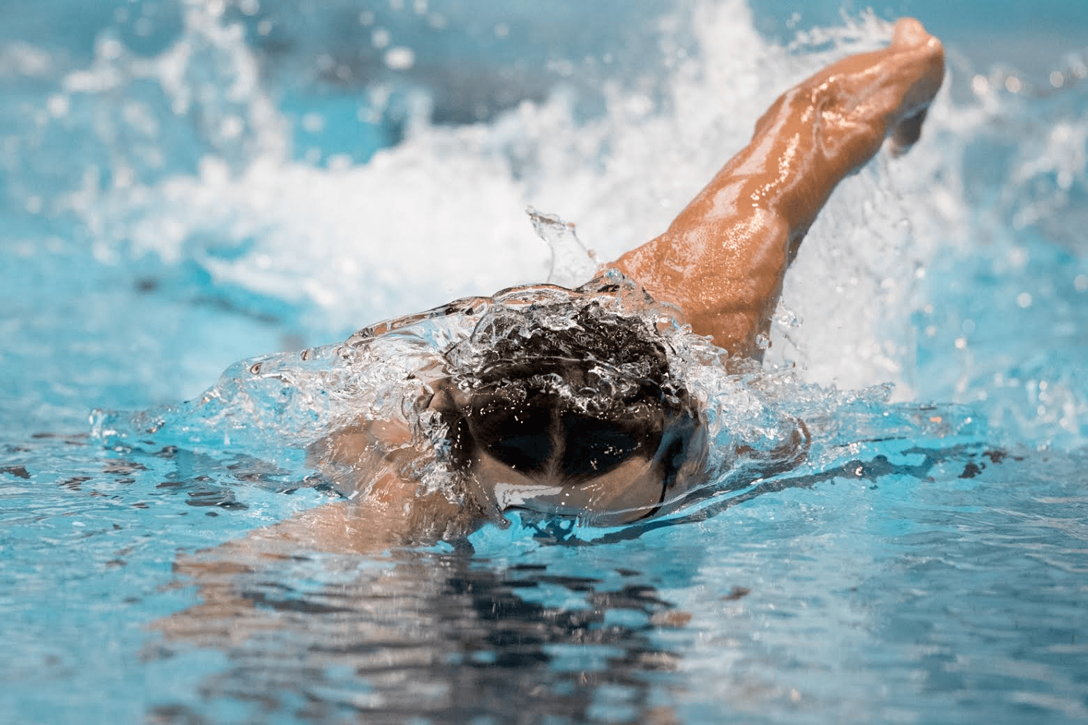 Swimmer clipart fast swimmer. Eat right swim faster