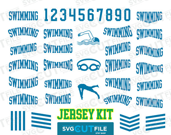 Team jersey svg clip. Swimsuit clipart swimming kit