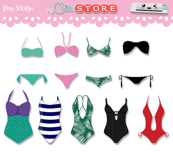 Swimsuit clipart. Collection summer graphics png