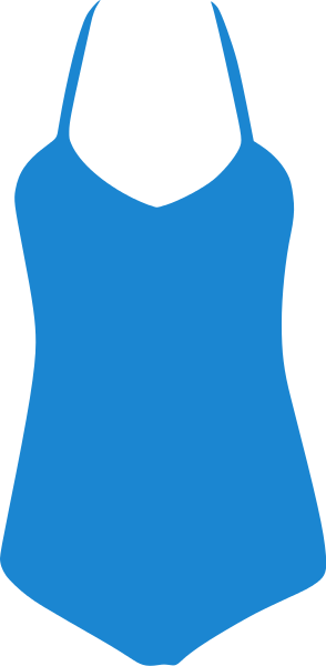 Blue . Swimsuit clipart
