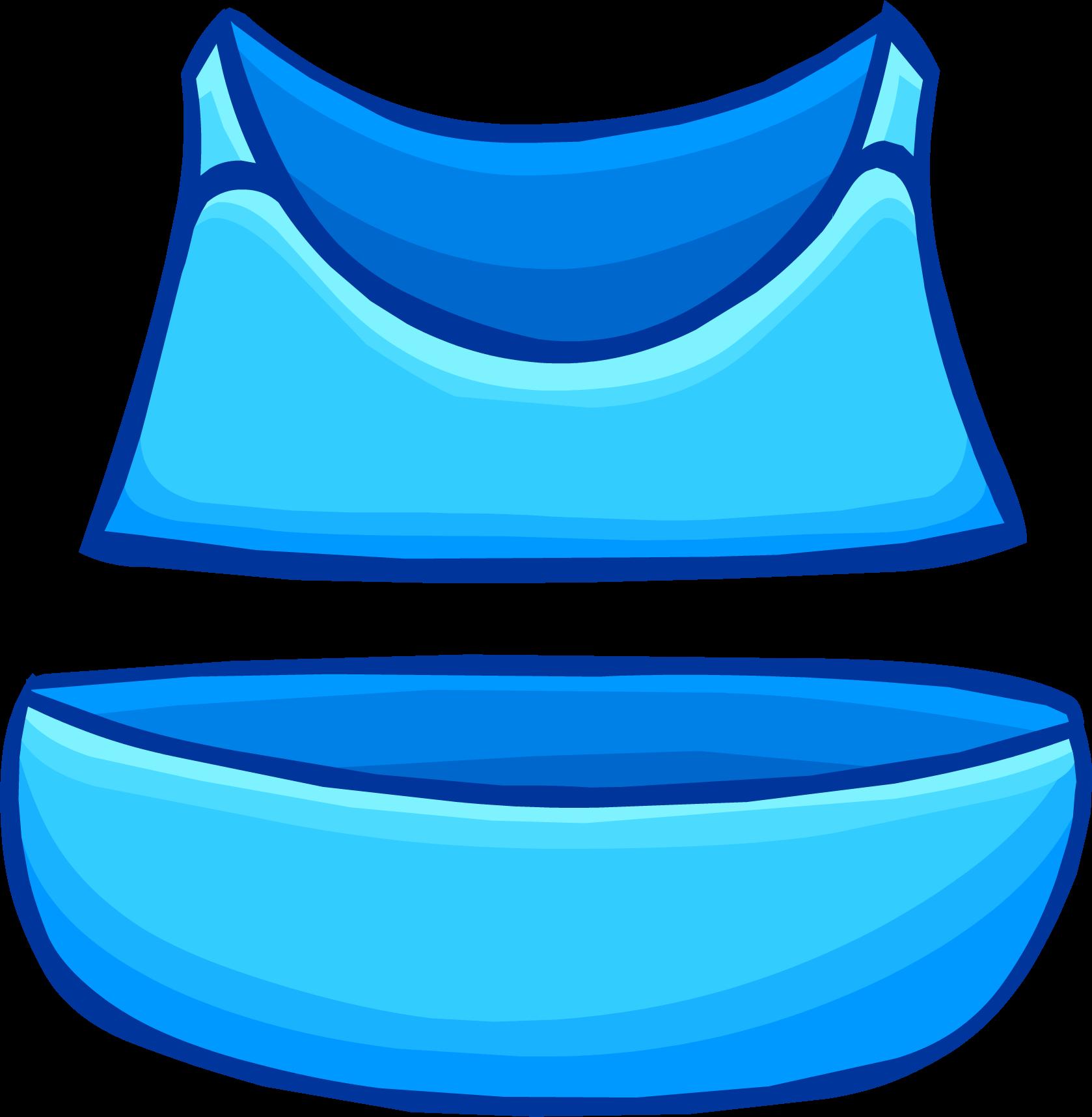Swimsuit clipart beach clothing. Aqua bikini club penguin