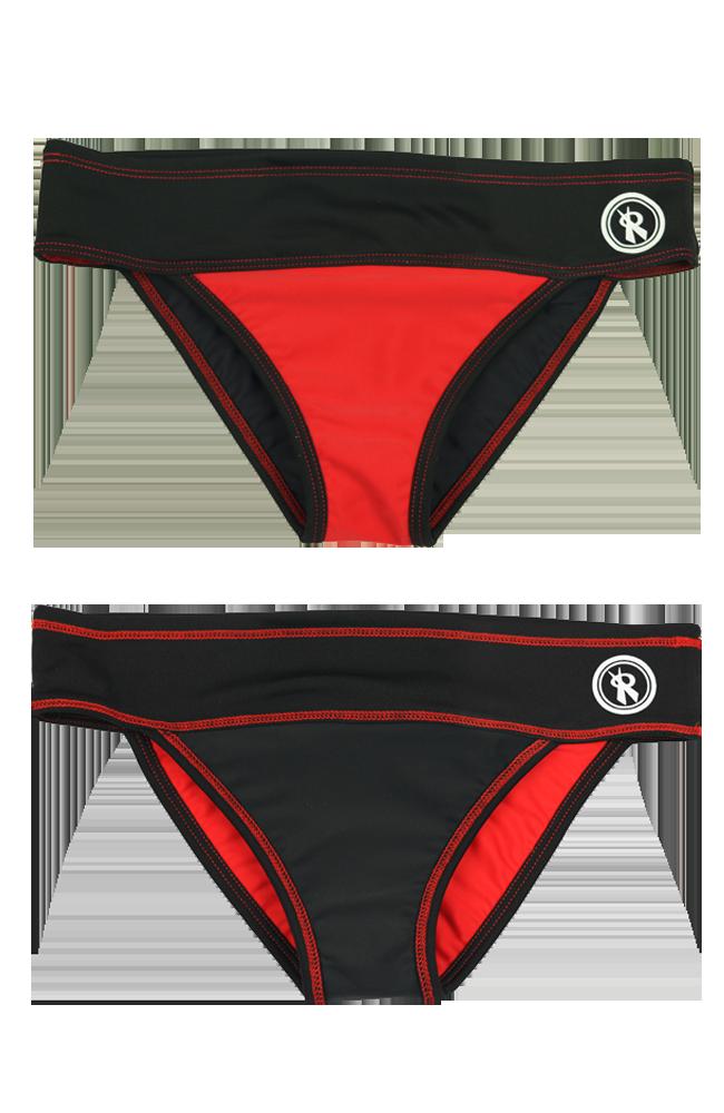 Teenie pro red black. Swimsuit clipart beach wear