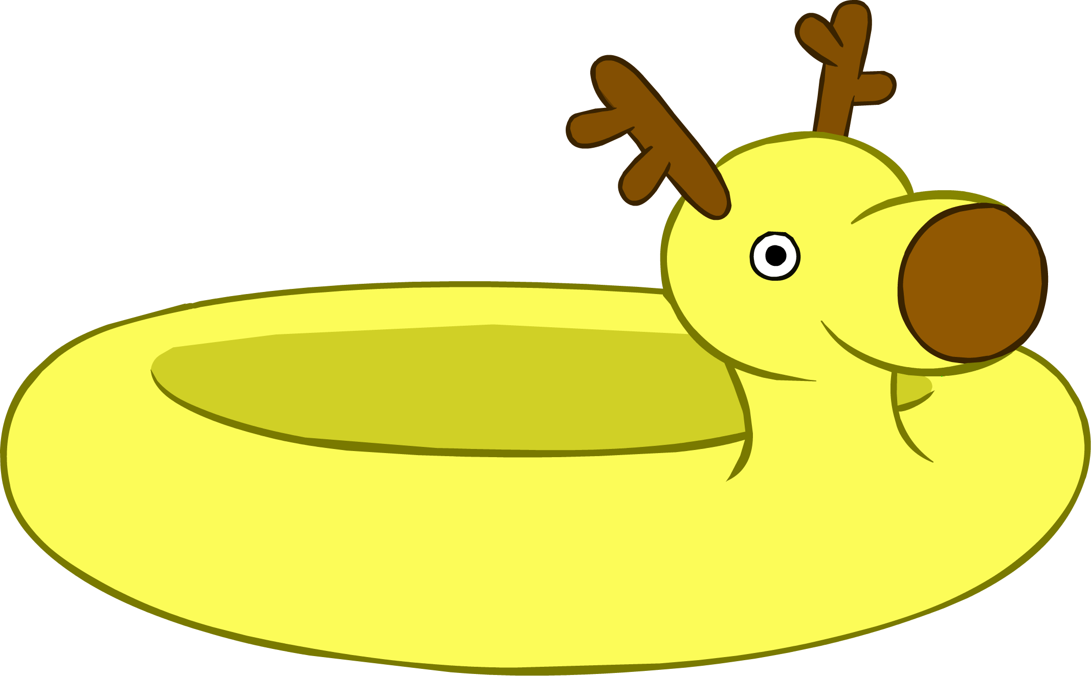 Reindeer club penguin wiki. Swimsuit clipart floaty