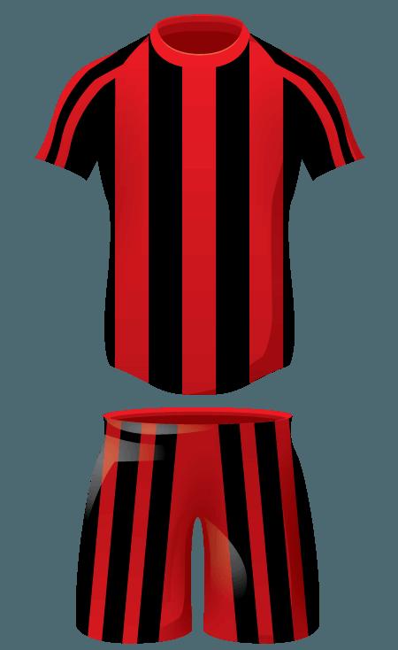 Striker kit team colours. Swimsuit clipart football shorts