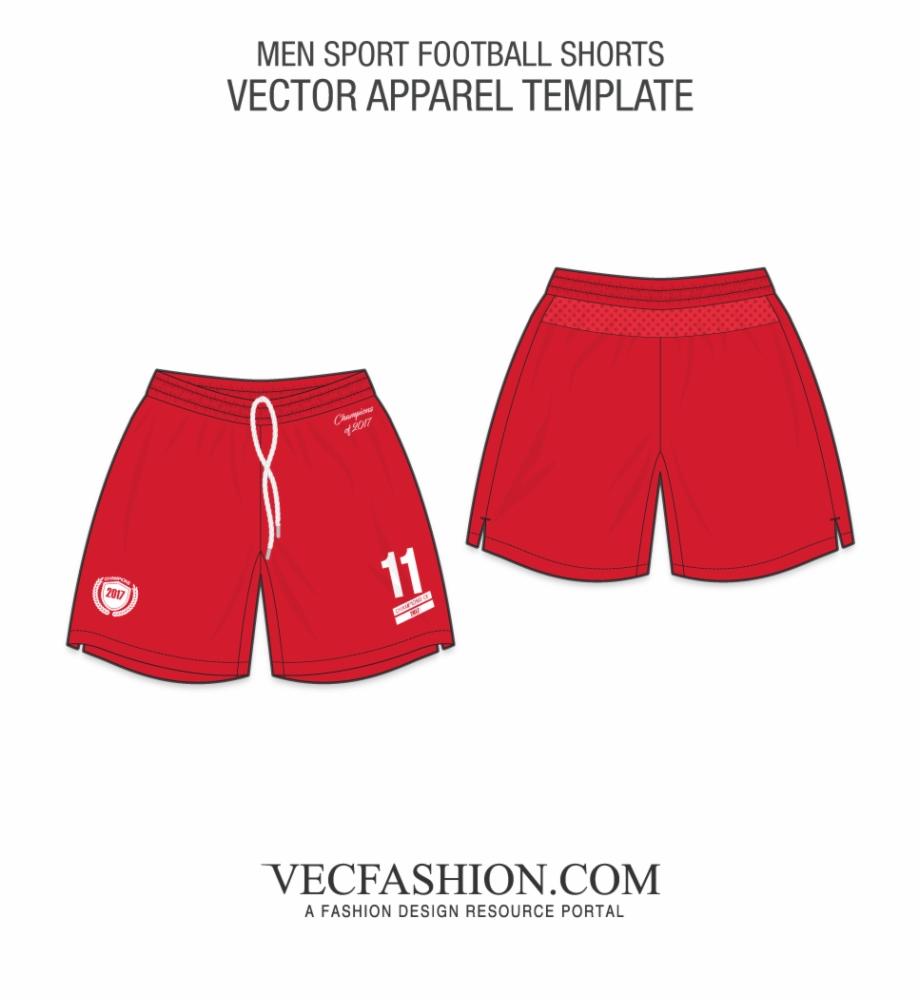 Swimsuit clipart football shorts. Men sport template underpants