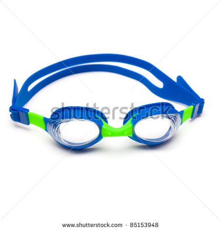 Swim goggles panda free. Swimsuit clipart swimming gear