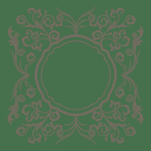 Swirl border png. Flouring swirls round transparent
