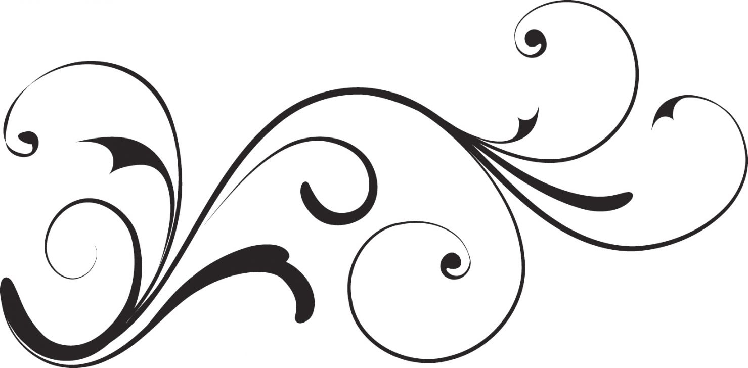 Decorative swirls kid . Swirl clipart