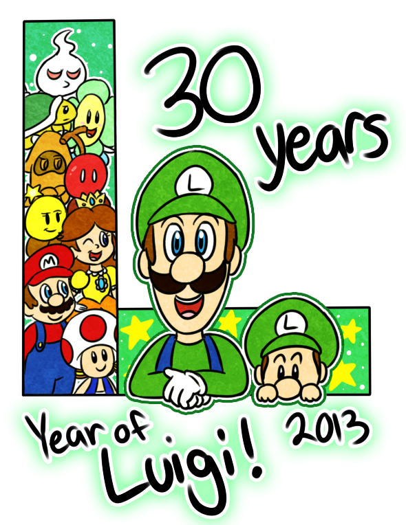 Swirl clipart candy. Year of luigi by