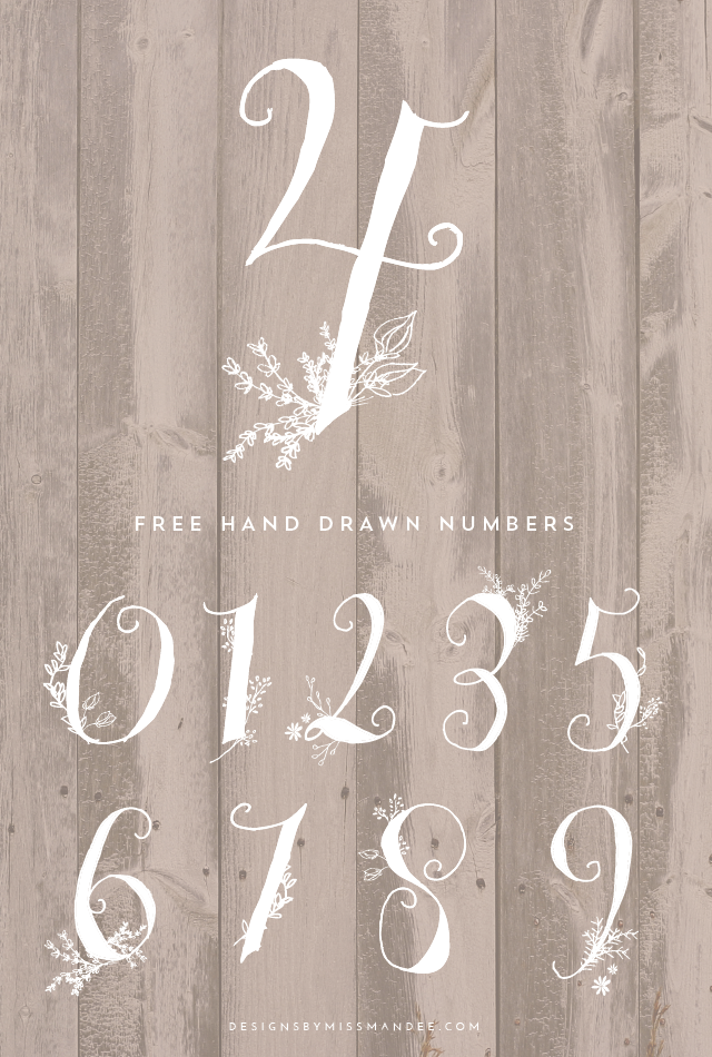 Swirl clipart chalkboard. Stunning hand drawn numbers