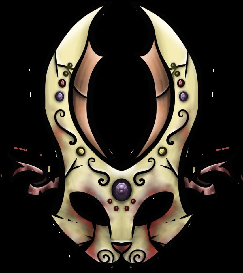 Swirl clipart cross. Bunny mask icon broken