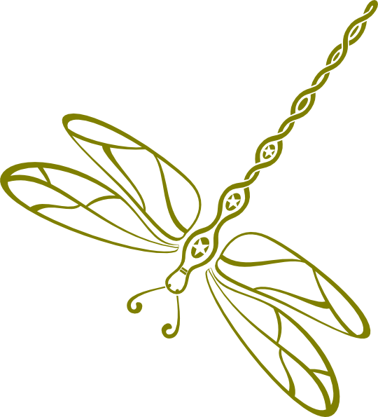Down green pinterest. Swirl clipart dragonfly