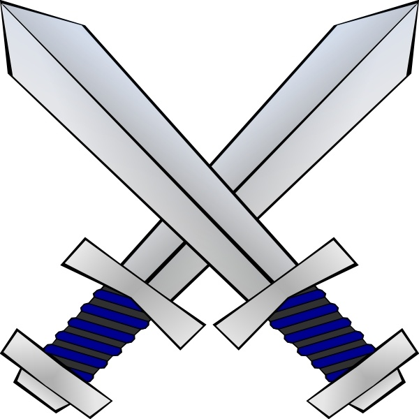 Crossed swords clip art. Sword clipart