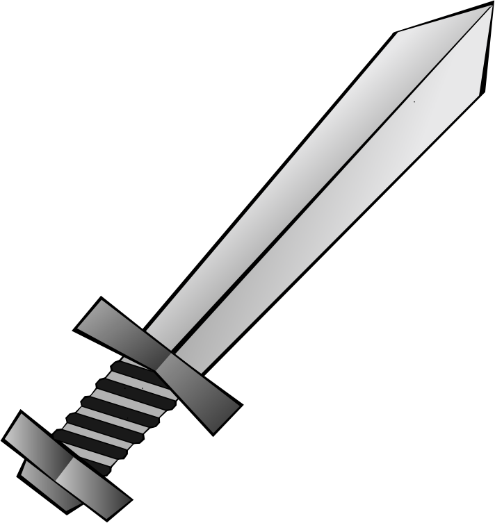 White clipart sword. Toy grayscale medium image