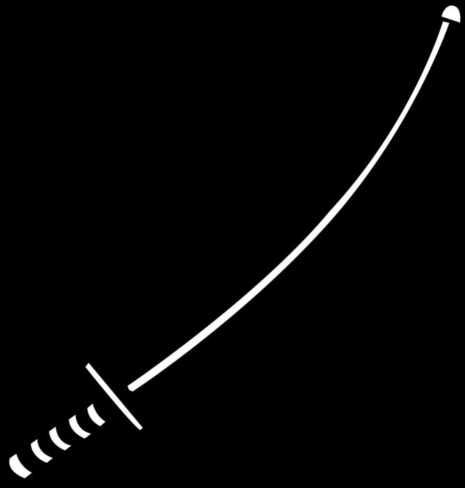 Japanese katana samurai image. Sword vector png