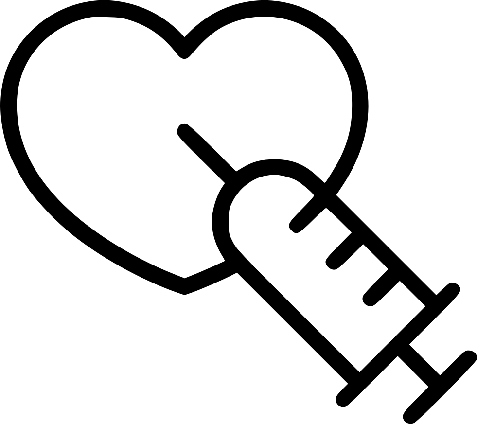 Heart adrenaline reanimation svg. Syringe clipart injector