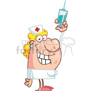 In white with a. Syringe clipart nurse