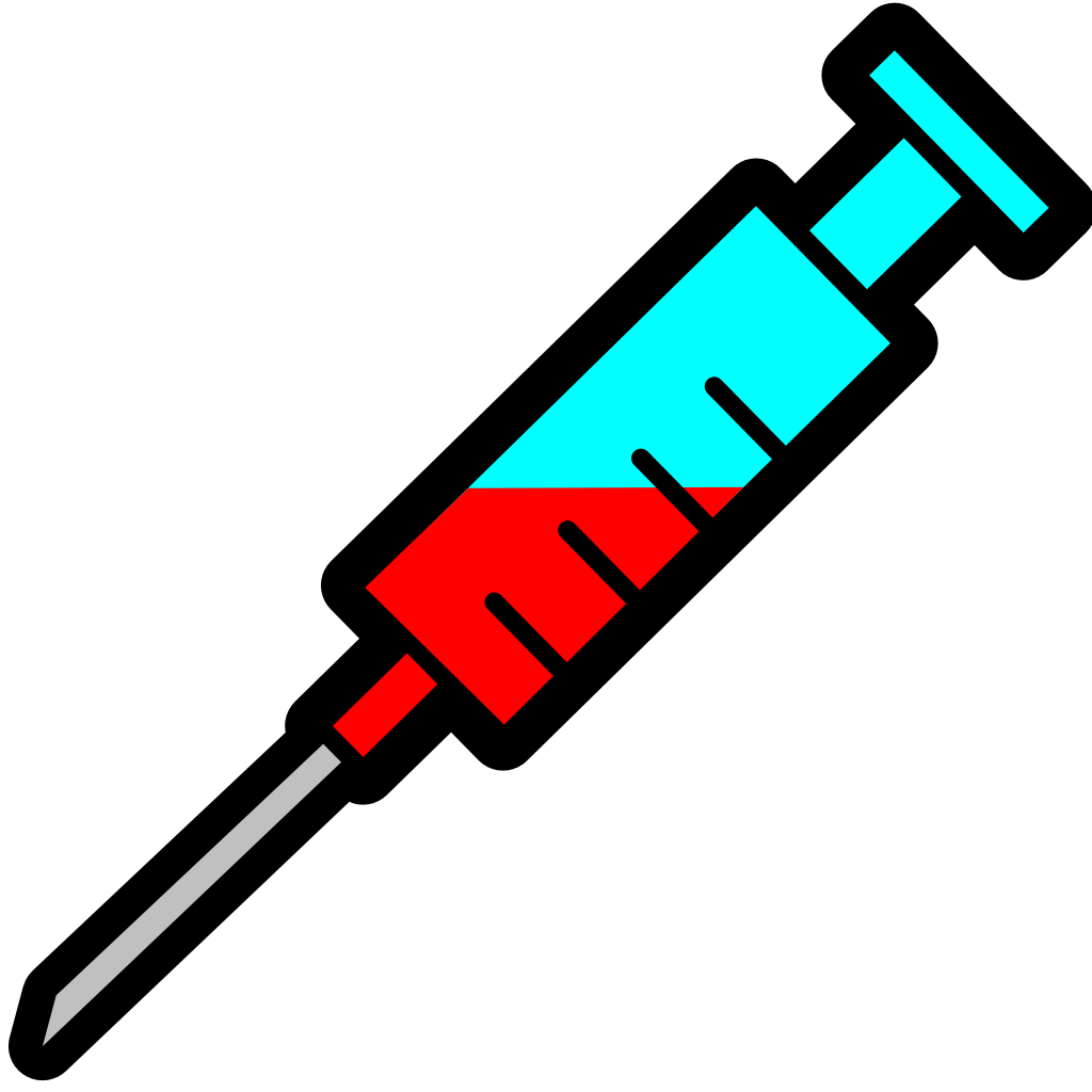 File filled icon svg. Syringe clipart pixel art