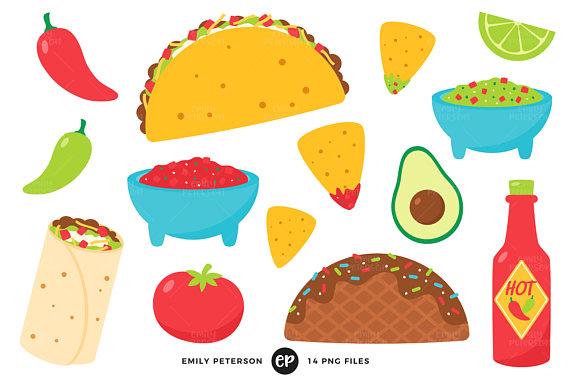 Taco clipart. Tuesday clip art fiesta