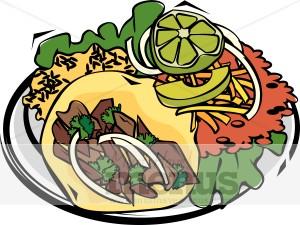 Tacos clipart. Mexican taco