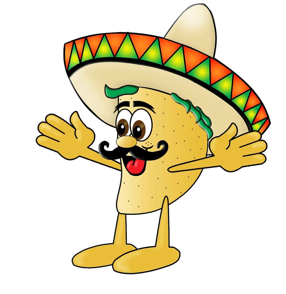 Best cartoon drawing vector. Tacos clipart