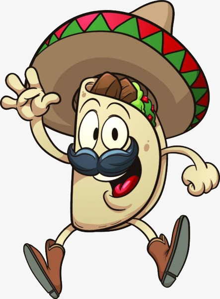 Tacos clipart. Cartoon free pull fry