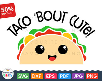 Taco card etsy bout. Tacos clipart