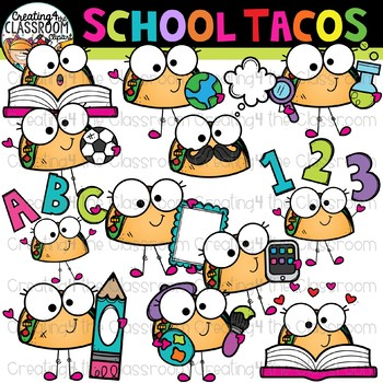 Tacos clipart. School by creating the
