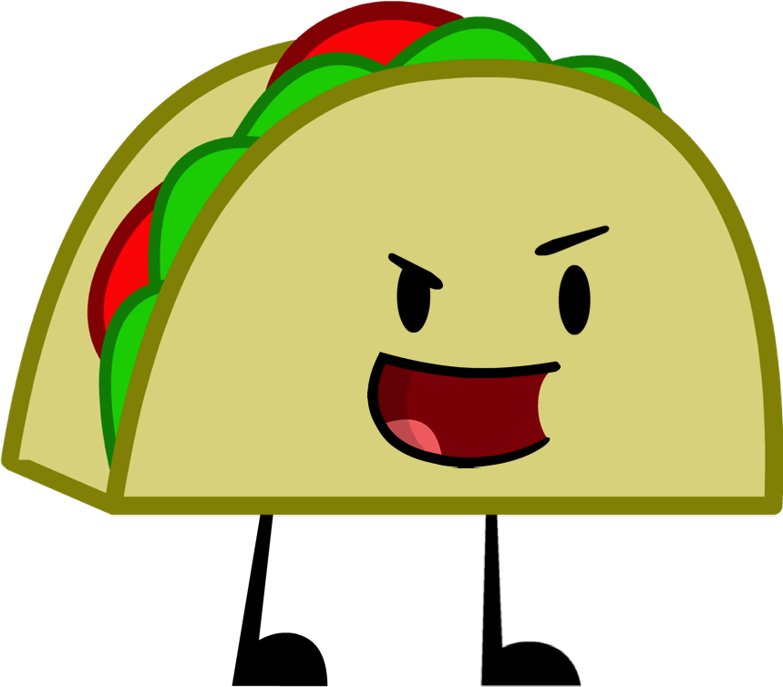 Tacos clipart arm leg. Which inanimate insanity character