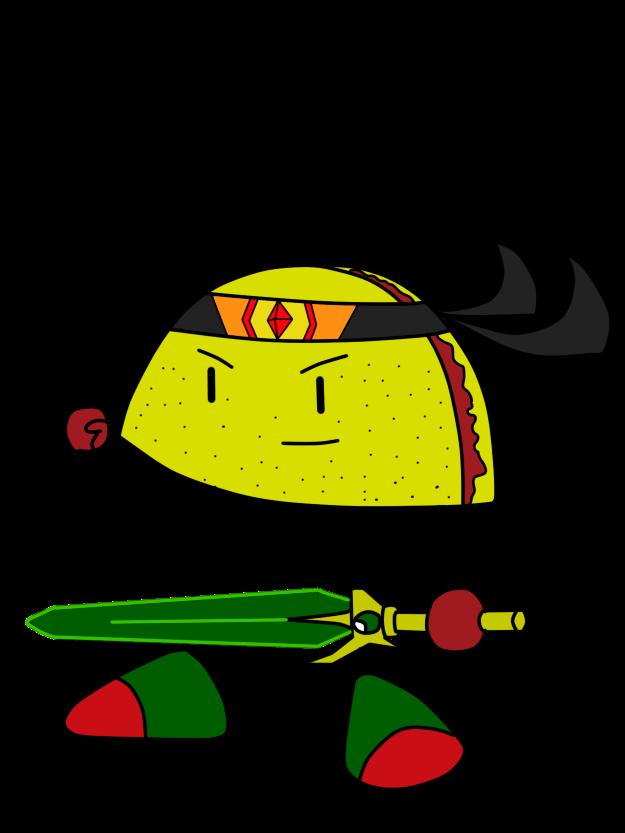 Tacos clipart comic. Taco hero by krisfiredrakox