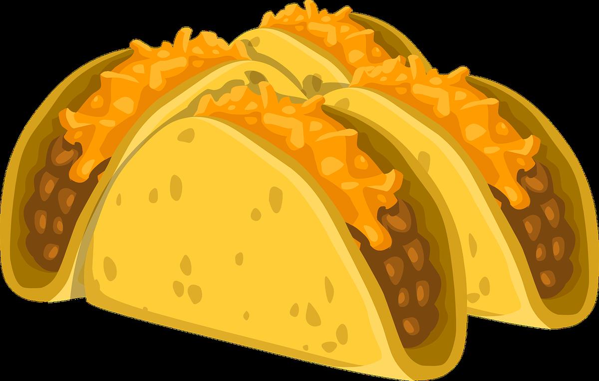 Tacos clipart crunchy. Luna language on twitter
