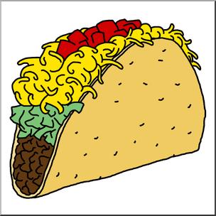Taco cinco de mayo. Tacos clipart illustration