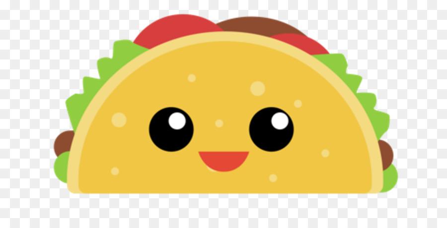 Taco cartoon yellow green. Tacos clipart smile