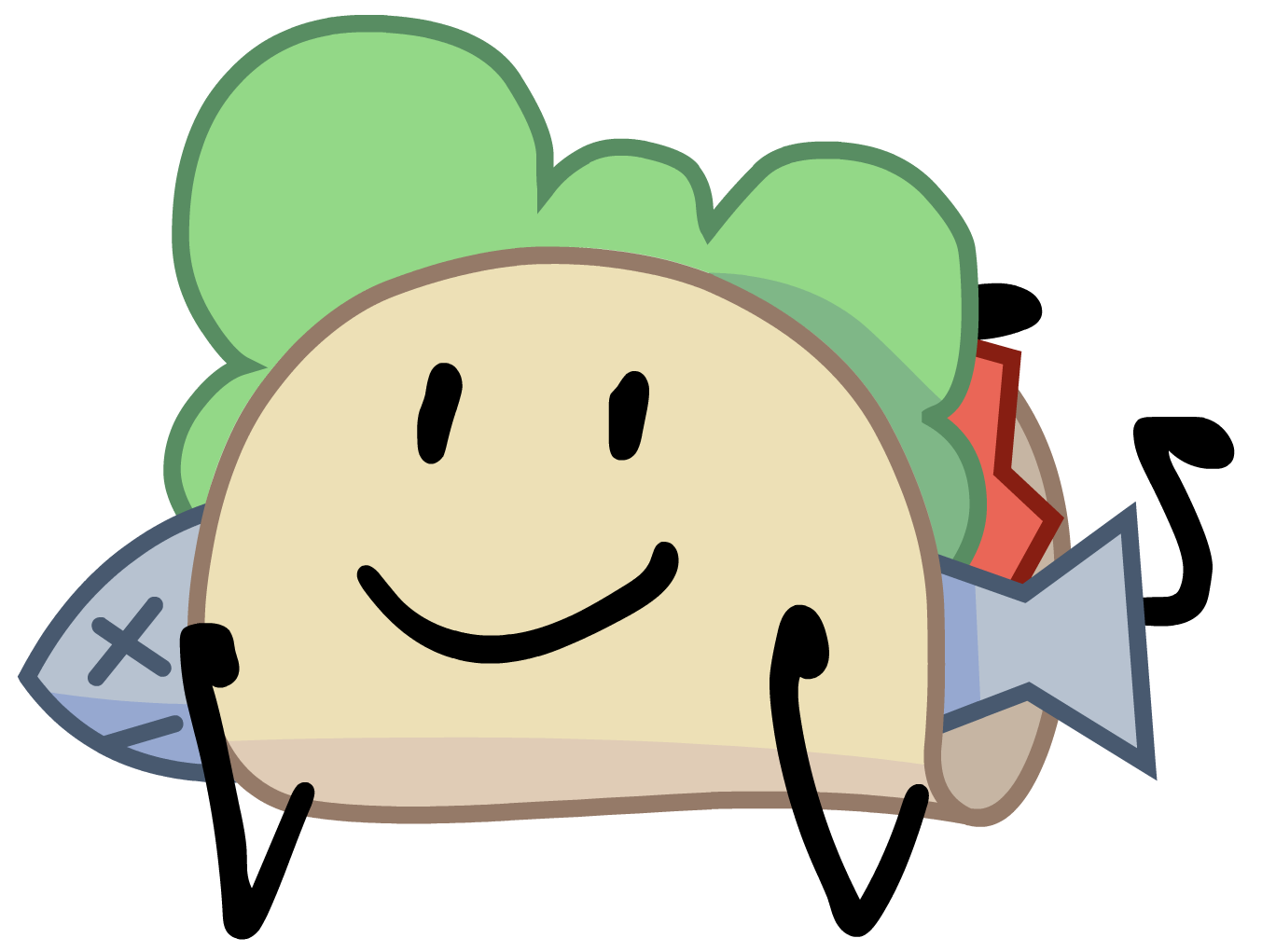 Image taco sitting png. Tacos clipart smile