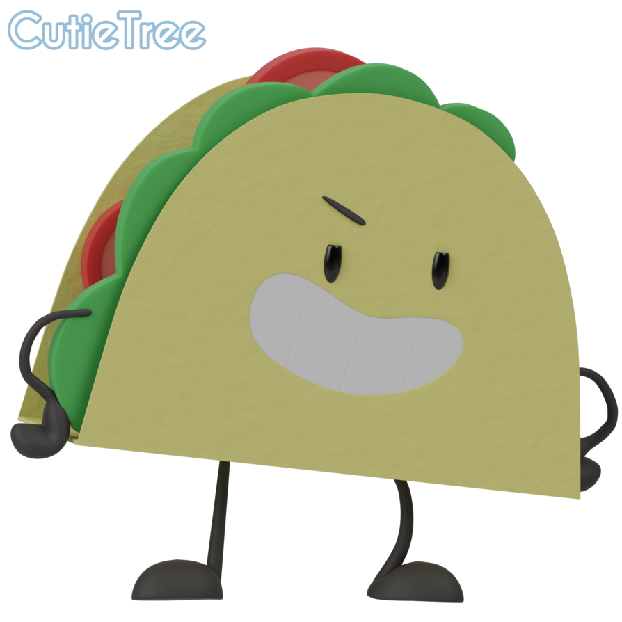 Tacos clipart smile. Inanimate insanity taco by