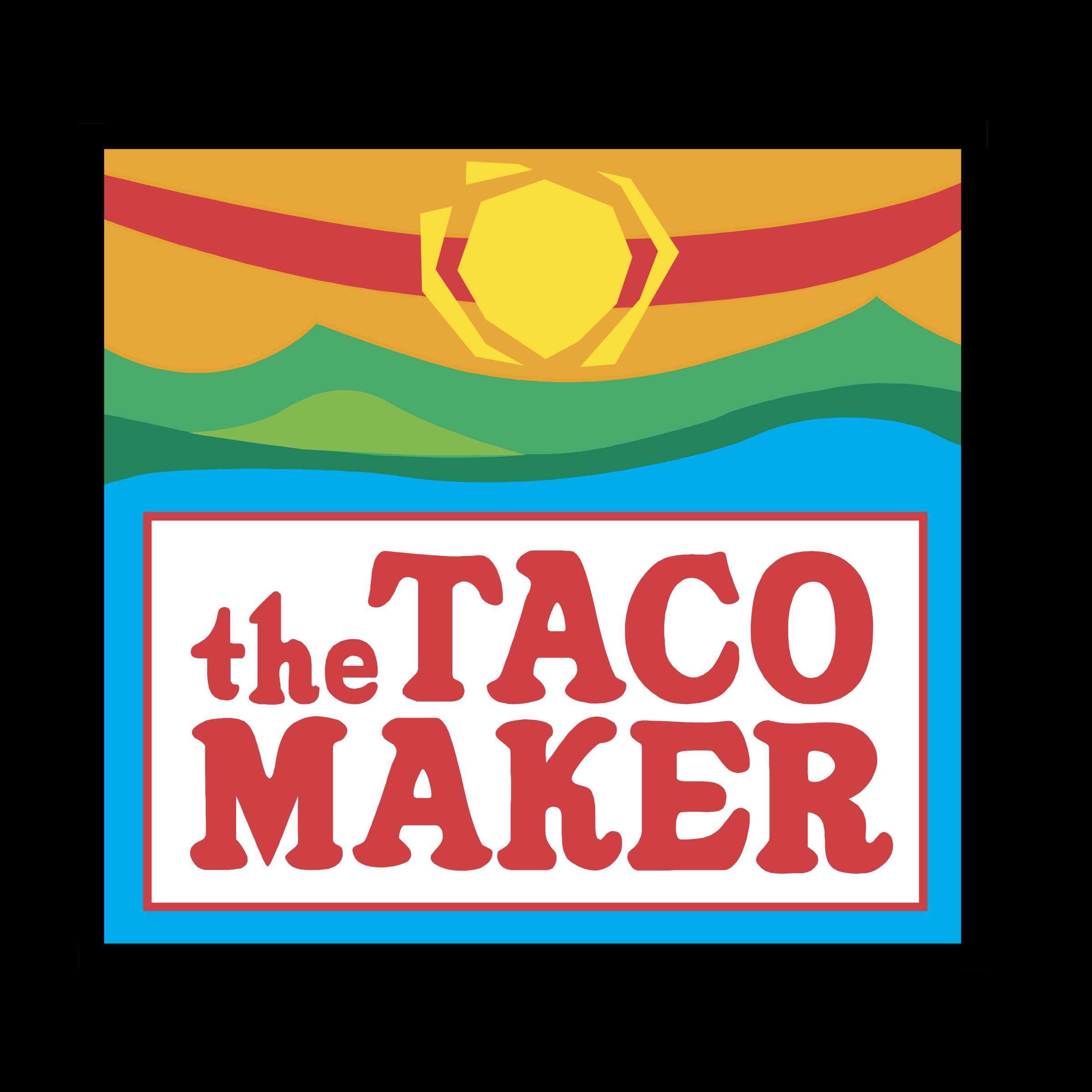 Tacos clipart vector. The taco maker logo