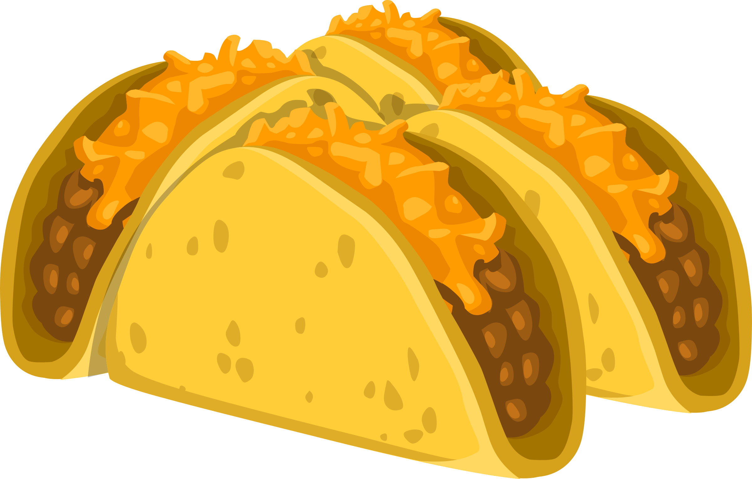 Tacos clipart vector. Food cold taco icons