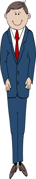 Tall clipart. Man in suit clip