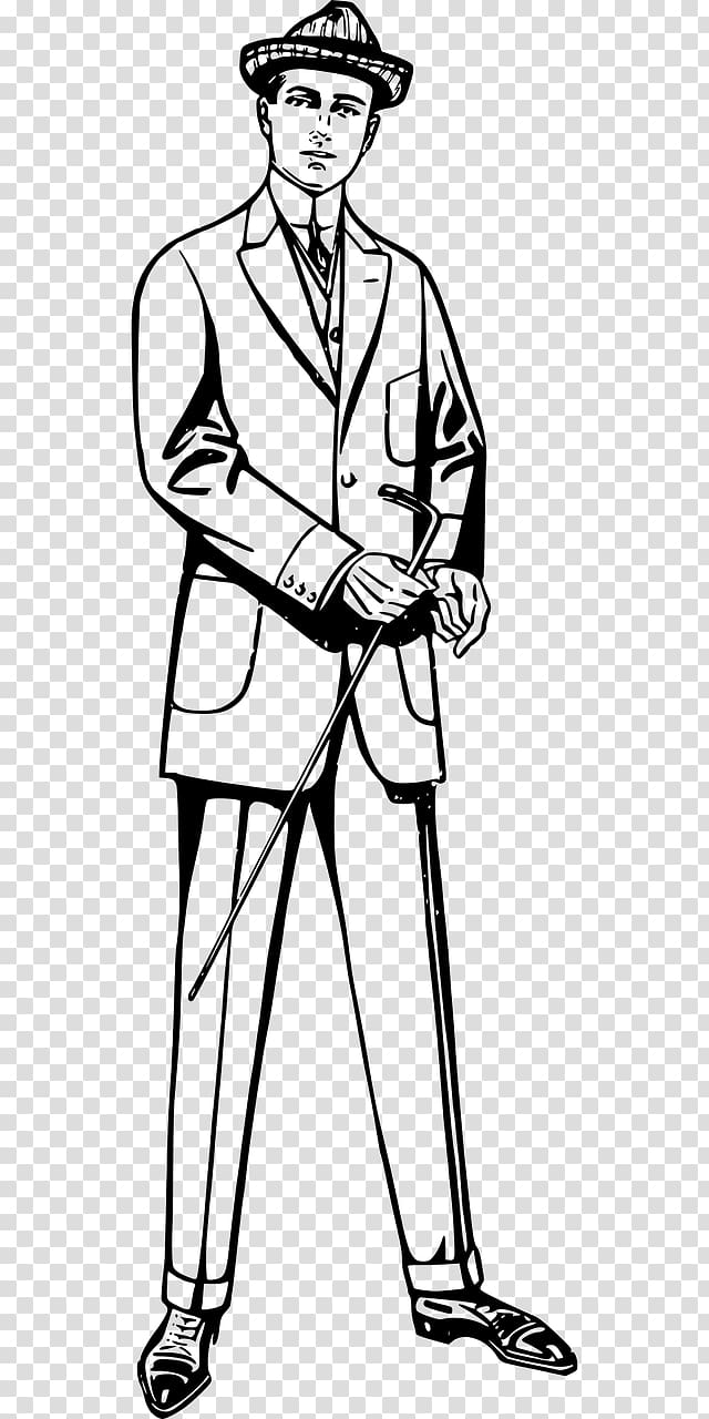 Tall clipart attractive man. Suit black and white