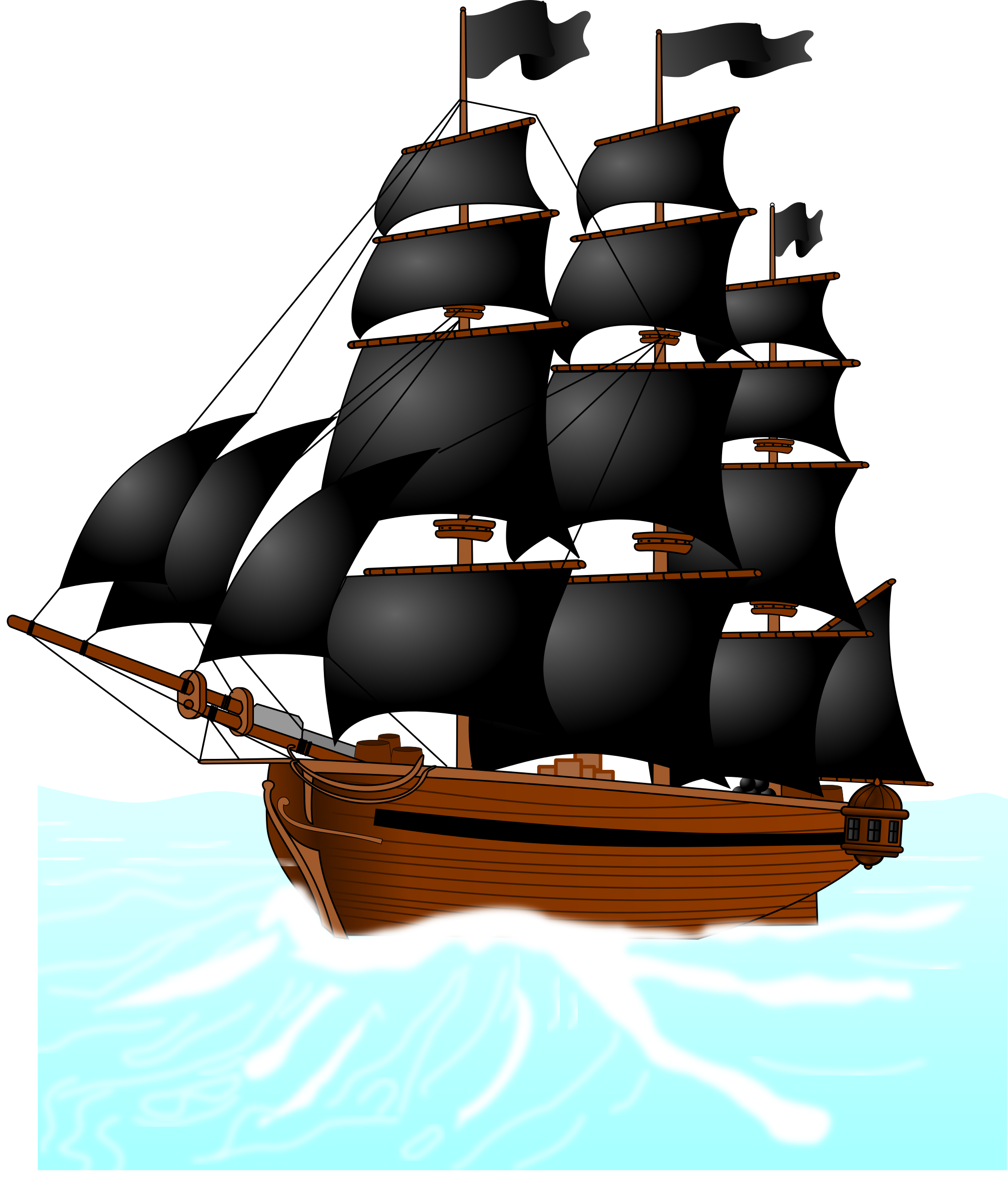 Tall clipart rate. Pirate s boat navire