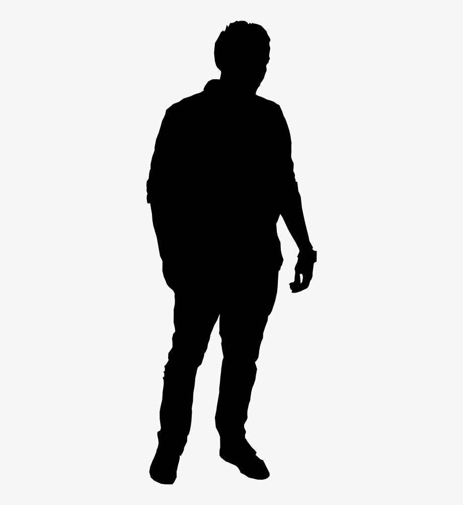 People silhouette man transparent. Tall clipart standing alone